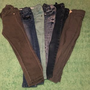 6 Pair Girl Toddler Pants